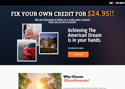 EZ Credit Sweep (Web Design)